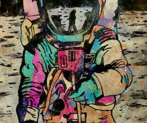 colors, colourful, and cosmonaut image
