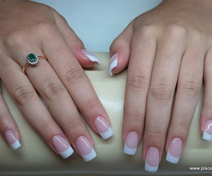 acrylics, french manicure, and nails image