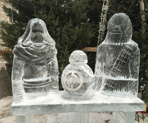 chewie, ice, and kylo ren image