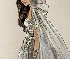 art, bride, and wedding image