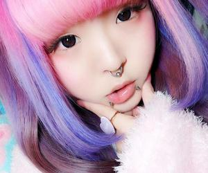 colorful, pink, and eyes image