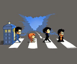 doctor who, harry potter, and sherlock image