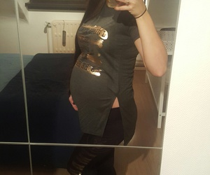 belly, family, and fashion image