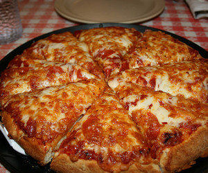 cheese, crust, and pepperoni image