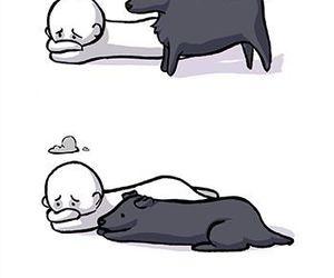 dog, love, and sad image