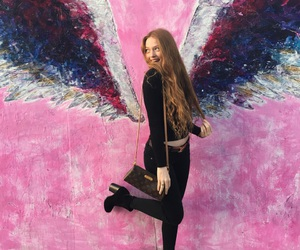 girl, wings, and larsen thompson image