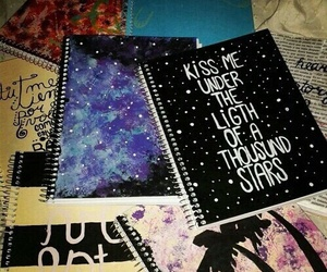notebook, school, and ed sheeran image