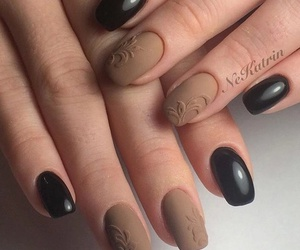 nails, beautiful, and glamour image