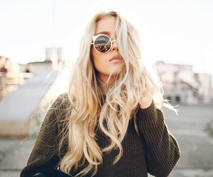 girl, blonde, and hair image
