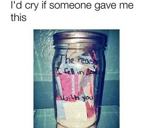love, jar, and quotes image