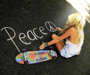 fuck you, peace, and girly image