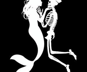 mermaid, love, and art image