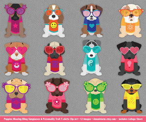 etsy, cute puppies, and puppy clipart image