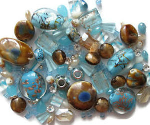 beads, blue beads, and jewelry making image
