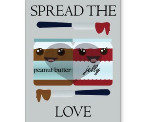 card, peanut butter, and valentines image