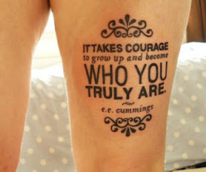 tattoo, quote, and courage image