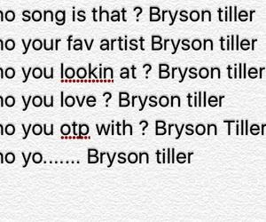 artist, bryson, and lmao image