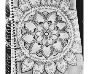 mandala, draw, and art image