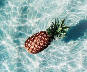 pineapple, water, and summer image