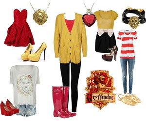 boots, clothes, and gold image