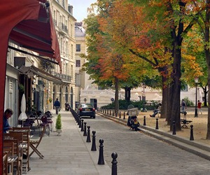 autumn, cafe, and city image