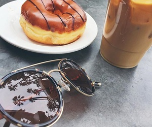 cool, ice coffee, and palm trees image