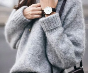 bag, sweater, and winter image