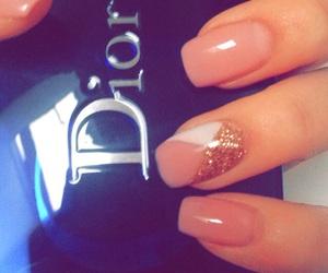 dior, nails, and short image