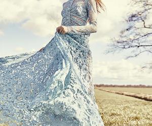 blue, dress, and elie saab image