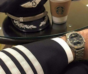 aviation, coffee, and captain image