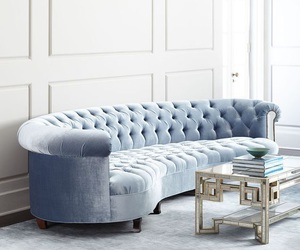 decor, luxe, and sky blue image