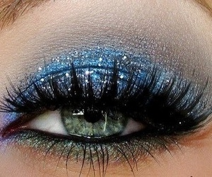makeup, blue, and eye image
