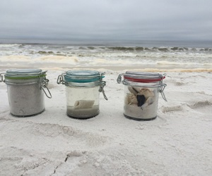 beach, jars, and lovely image