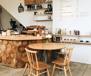 bar, wood, and cafe image