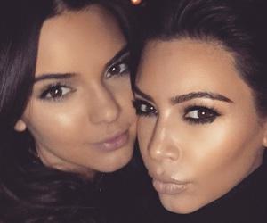 kendall jenner, kim kardashian, and Kendall image