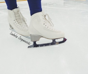 ice, skates, and sport image