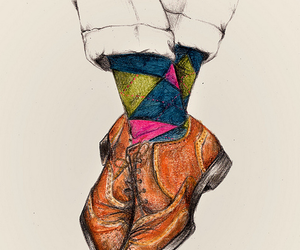 shoes, art, and illustration image