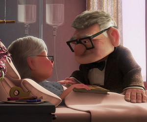 carl and ellie and pixar couples image