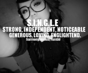 single, strong, and quotes image