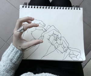 draw, hand, and pale image