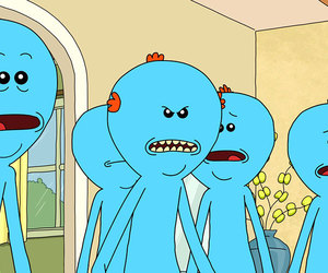 rick and morty and mr meeseeks image