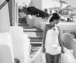 bride, fashion, and santorini image