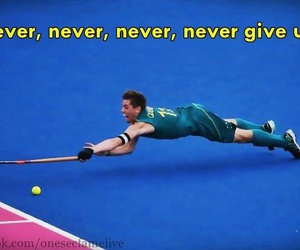 hockey and never give up image