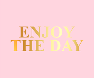 quotes, enjoy, and pink image