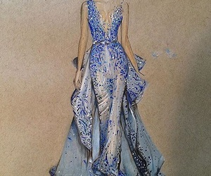 dress, fashion, and art image