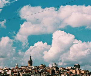blue, cloud, and galata image