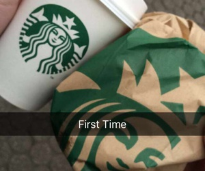 coffee, muffin, and starbucks image