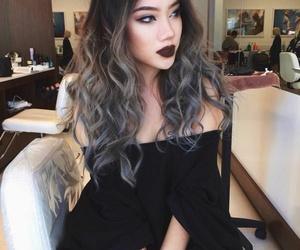 hair, beauty, and grey image