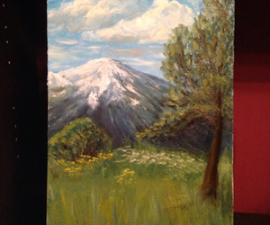 painting, hiking, and mountains image