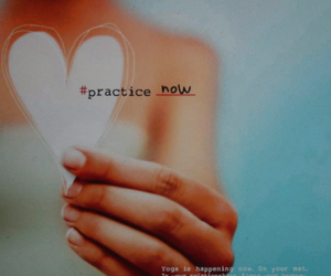 heart, text, and yoga image